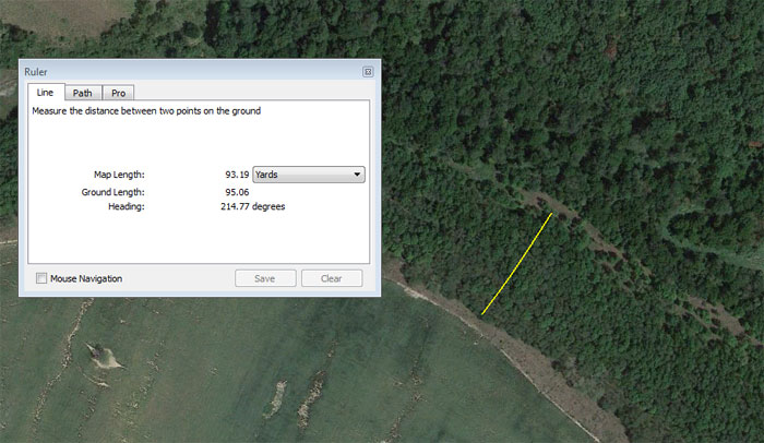 measure with google earth