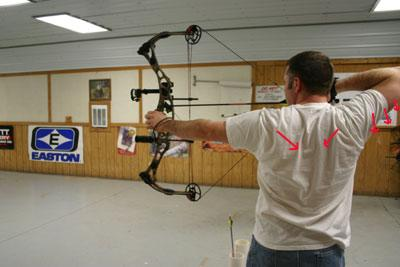 back tension archery form