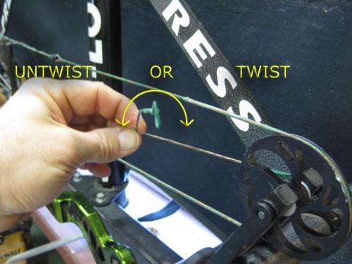 yoke tuning a bow
