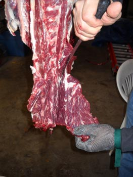 deer neck meat