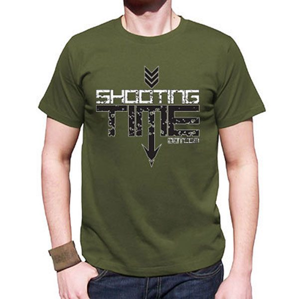 military green logo shirt