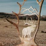 moose cutout carving