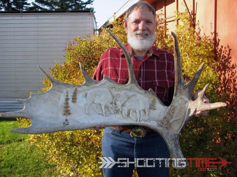 moose antler art