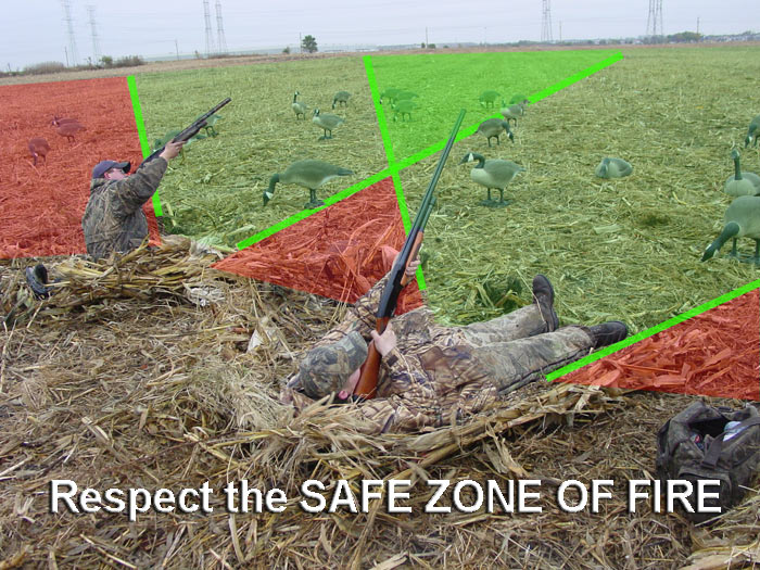 safe zone of fire