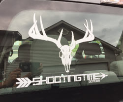 shootingtime trophy sticker