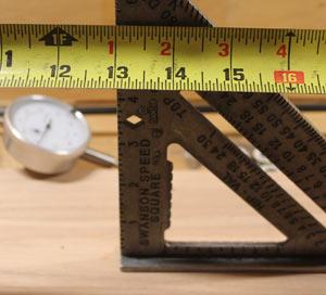 13 inch mark