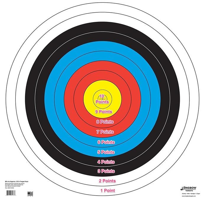 vegas round archery target