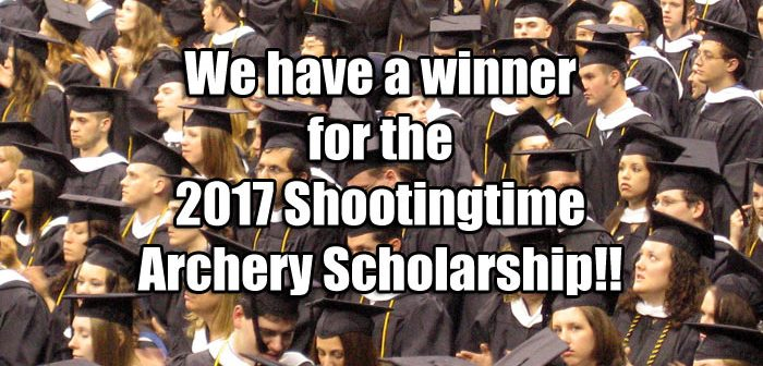 We Have a Winner for the 2017 Shootingtime Archery Scholarship