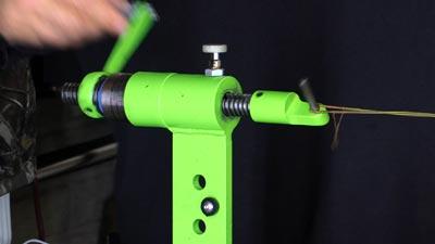 twisting a bowstring