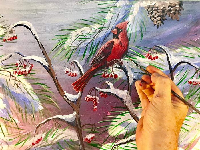 mott cardinal painting