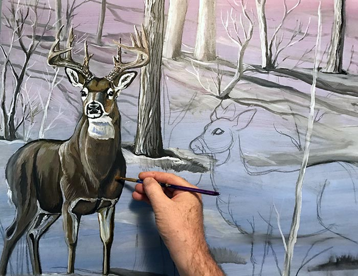 how to paint deer